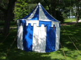 9 x 13 OvalMarquee, Blue and White Tent