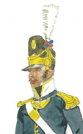 Figure 2, Portuguese Infantry officer. Painting by Herbert Knötel.