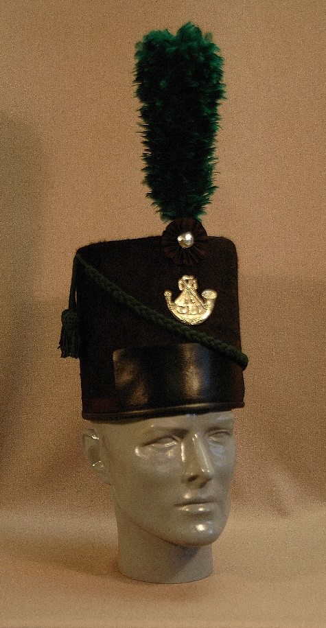 Figure 5. Glengarry Light Infantry Officer shako. Picture by Peter Twist