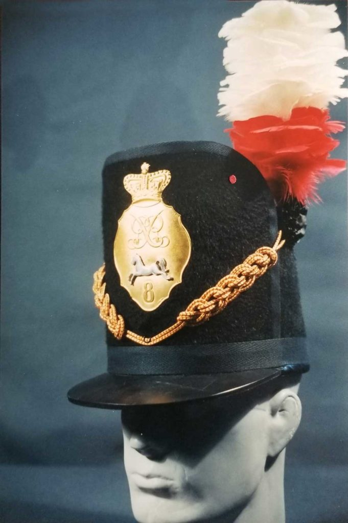 Figure 8, Officer's Belgic shako, King's Regiment. Photo by Peter Twist