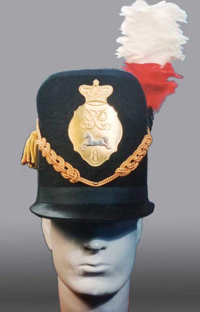 Figure 9, Officer's Belgic shako, King's Regiment. Photo by Peter Twist