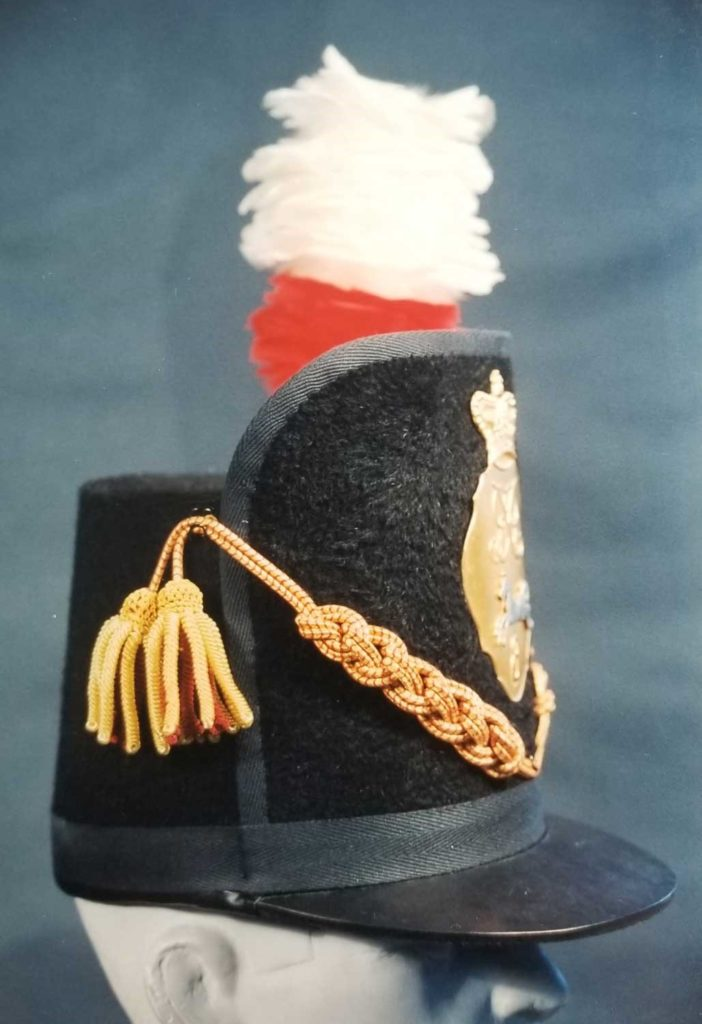 Figure 10, Officer's Belgic shako, King's Regiment. Photo by Peter Twist