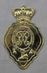 Figure 11, Royal Artillery shako plate. Photo by Seaghan Hancocks