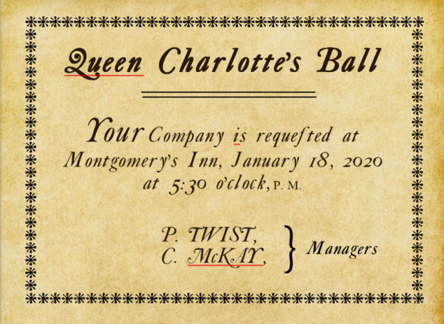 Period Invitation to the Ball