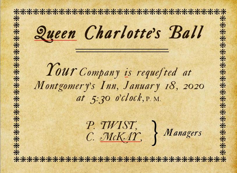 Period Invitation to the Ball