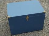 "24 x 16.5 x 17"" blue trunk"