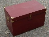 "27 x 15.5 x 16"" dark red trunk"