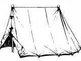 Standard Wedge Tent, available in various sizes